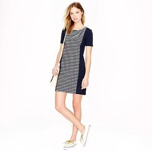 J Crew dress womens 10 knit shift striped short